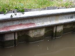 Armco - a typical way of lining the canal