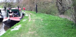 NEVER let your ropes cross a towpath