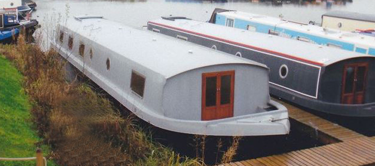 wide beam canal boat hull for sale